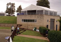 10m x 9m Freestanding Structure with clear walls Equine Events