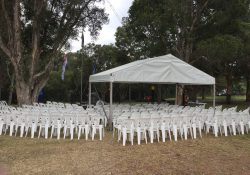 6m x 3m with Chairs Setup War Memorial (3)