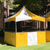 Yellow & White Fete Stall
