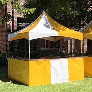Yellow & White Fete Stall