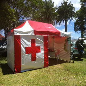 6m x 3m Instant Shelter - First Aid