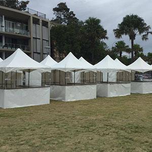 White Fete Stalls with Sneeze Gaurd