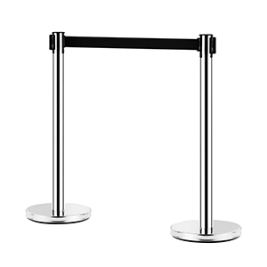 Chrome Retractable Bollard stanchions can be placed anywhere indoors and will suit most décor with their high end design. The Tensabarrier belt can be stretched up to 1.8 metres in length making it ideal for creating crowd barrier and crowd control barriers in busy places and they are easy to set up