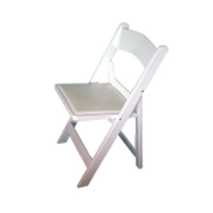 White Padded Folding Chair - Gladiator - Americana