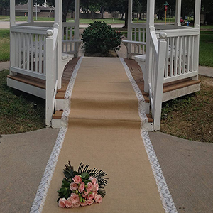 Hessian and Lace Aisle Runner