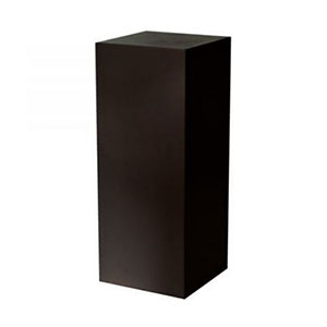 Our gloss finish, fiberglass black plinth is perfect for a range of event styling and decorating options
