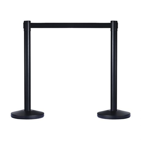 Black Retractable Bollard stanchions can be placed anywhere indoors and will suit most décor with their high end design. The Tensabarrier belt can be stretched up to 1.8 metres in length making it ideal for creating crowd barrier and crowd control barriers in busy places and they are easy to set up
