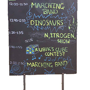 Chalk Boards are a fantastic idea to display messages or welcome notes at any event