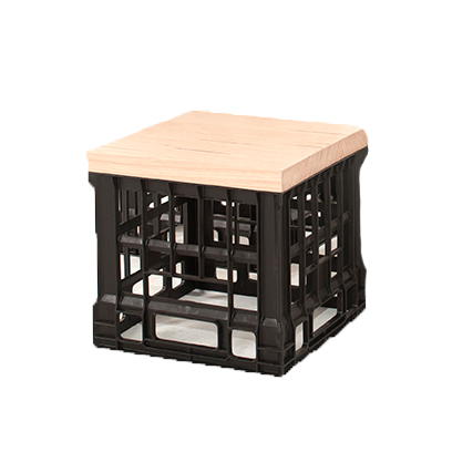 For a casual vibe, it's hard to go past Sydneywide Hire Group's timber-topped, Milk Crate Stool. Great for parties, picnics and themed events