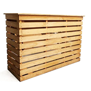 For a rustic vibe, it's hard to go past Sydneywide Hire Group's Pallet Bar. Great for casual and corporate events