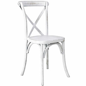 For a touch of elegance, Sydneywide Hire Group's Whitewashed Crossback Chairs are the ideal solution for weddings, formal dinners and a host of arrangements