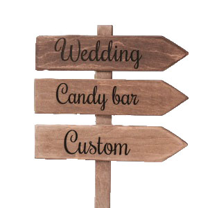 Wooden Arrows are a fantastic idea to display messages and directions at any wedding or event