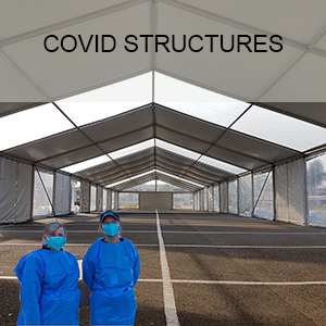 Sydneywide Hire Group have adapted our procedures and equipment to offer a Covid Station package in order to assist government bodies and companies in fighting the spread of Covid and meeting regulations. Covid Stations can be customised to suit almost any space and function. Sizes are offered from as small as 3m x 3m to 10m x 9m tents to marquees 100s of square meters each. Covid Sations can be installed on grass, dirt, asphalt, concrete and more. Sydneywide Hire Group also provides site and temporary fencing as well as flooring and other accessories.